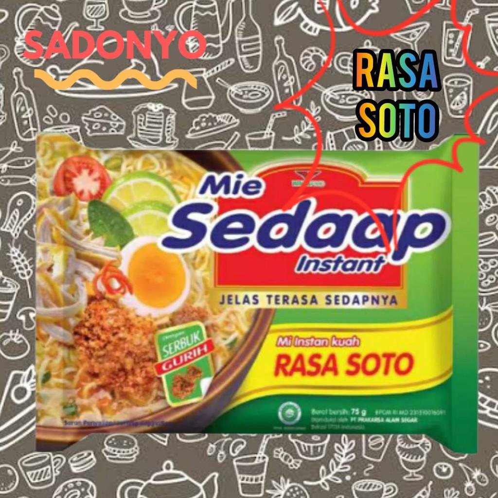 Mie Sedap / Mie Instan Kuah Sedaap / Instant Noodle Sedaap Semua Rasa