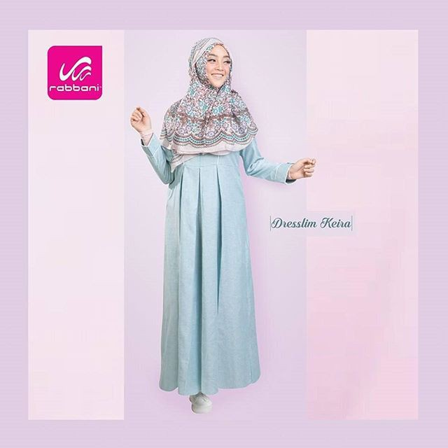 Rabbani Dress Gamis Dress Keira Fashionable Casual Formal Pakaian Muslim Fashion Muslim Shopee Indonesia