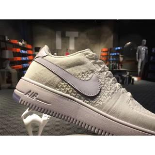 Suyi Sepatu Sneakers Desain Nike Air Force 1 Ultra Flyknit untuk Pria Wanita AF1