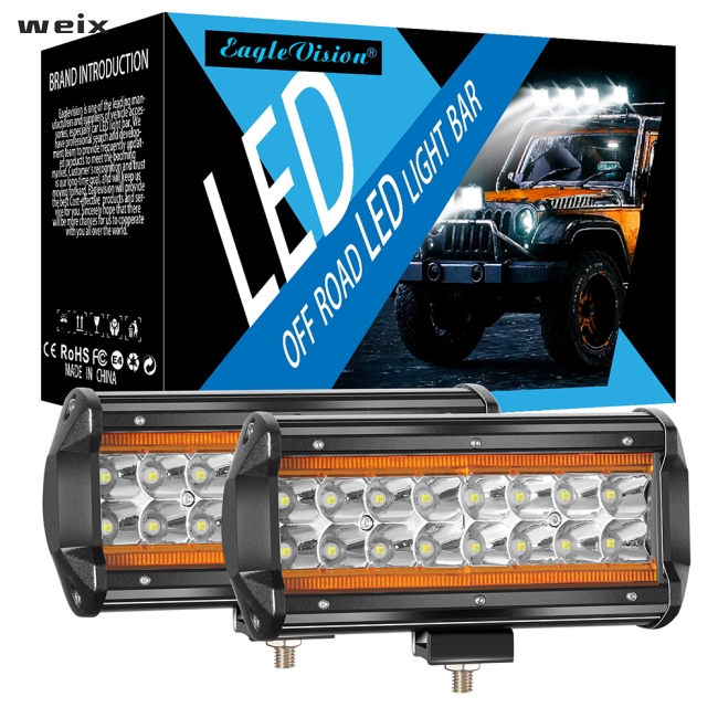 2Pcs 240W LED Work Light Bar Flood Spot Beam Offroad SUV Driving Fog Light 12V