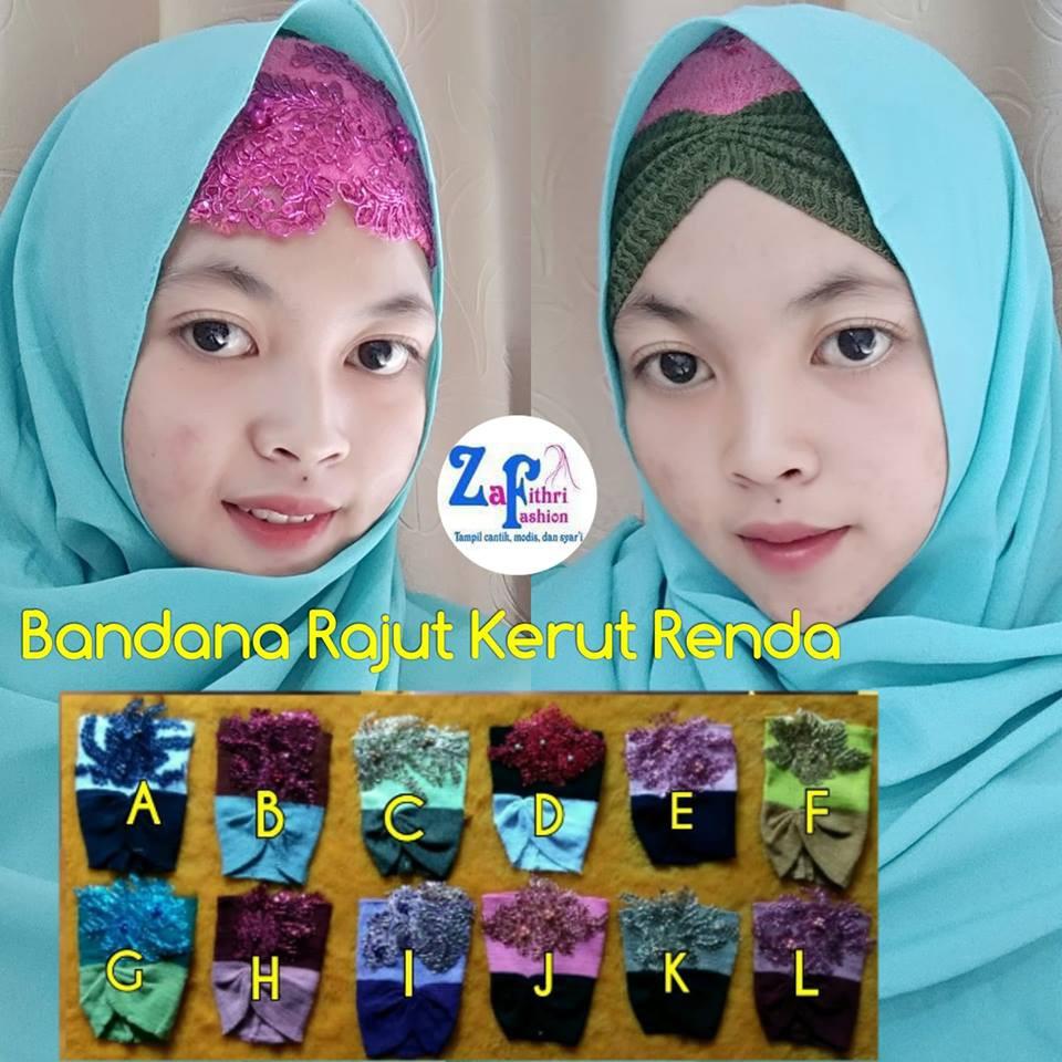 Inner Bandana Rajut Anpus Anti Pusing Twotone 2tone 2 Warna Two Tone Kerut Risty Shopee Indonesia
