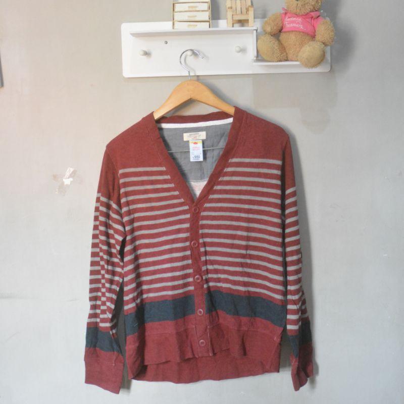 Aesthetic Kardigan Merah Maroon Àª¦ Shopee Indonesia