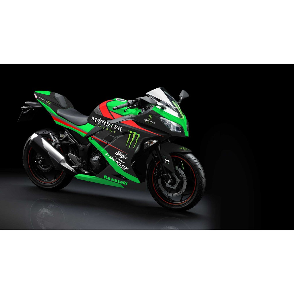 Decal stiker ninja 250r fi green super shopee indonesia