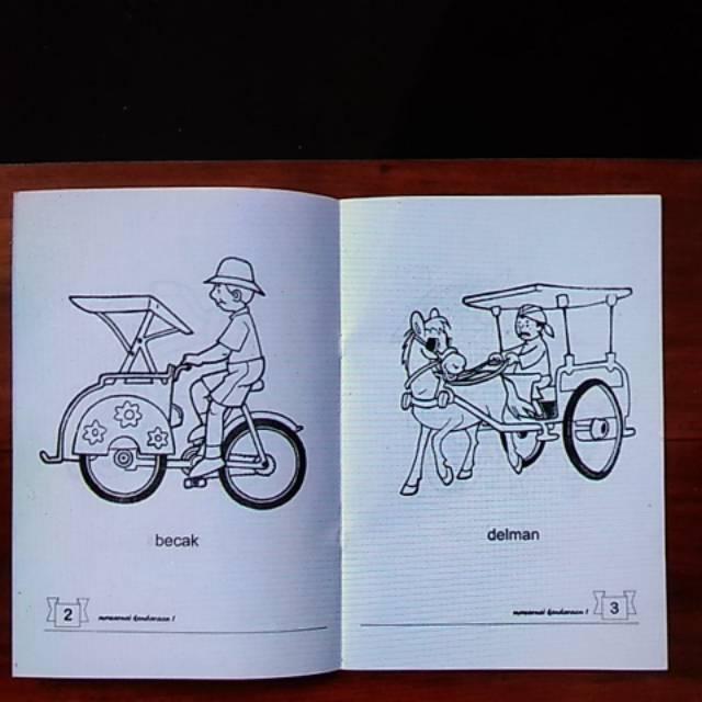 Buku Mewarnai Kendaraan Lebar Mutiarailmu Shopee Indonesia