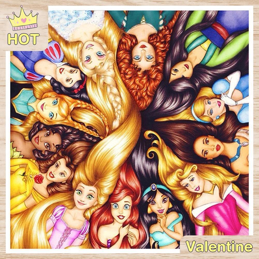 Lukisan Sulaman Berlian 5D Jahitan Bersilang Desain Fairy Tale DIY