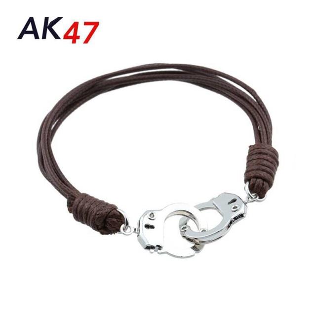18K Realgold Sorcery Genuine Leather Bracelet Gelang Kulit Pria Wanita Q61 terbaru | Shopee Indonesia