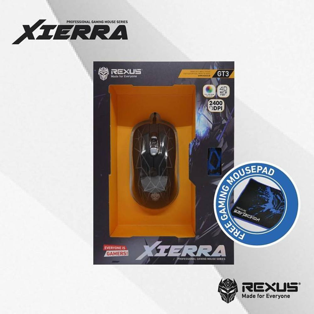 Mouse Gaming Rexus G4 Xierra Usb Shopee Indonesia