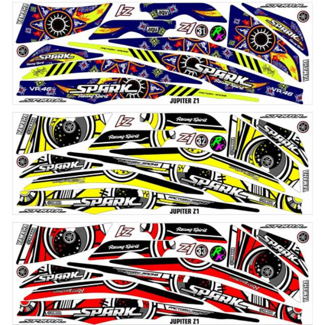 Sticker Striping Variasi Thailand Thailook Jupiter Z1 2013 2019 Spark 1a Shopee Indonesia