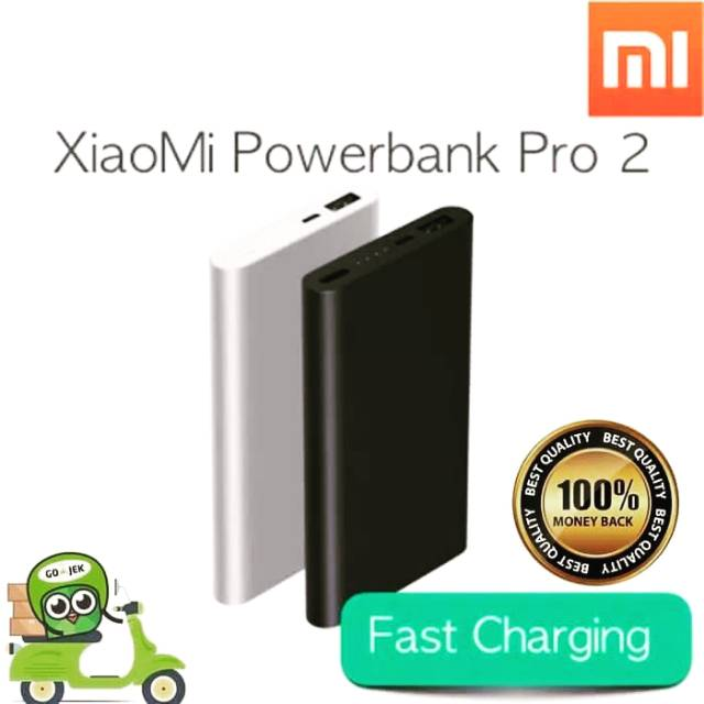 Power Bank Xiaomi Pro 2 10.000mAh Fast Charging QC 2.0 ORIGINAL 100%