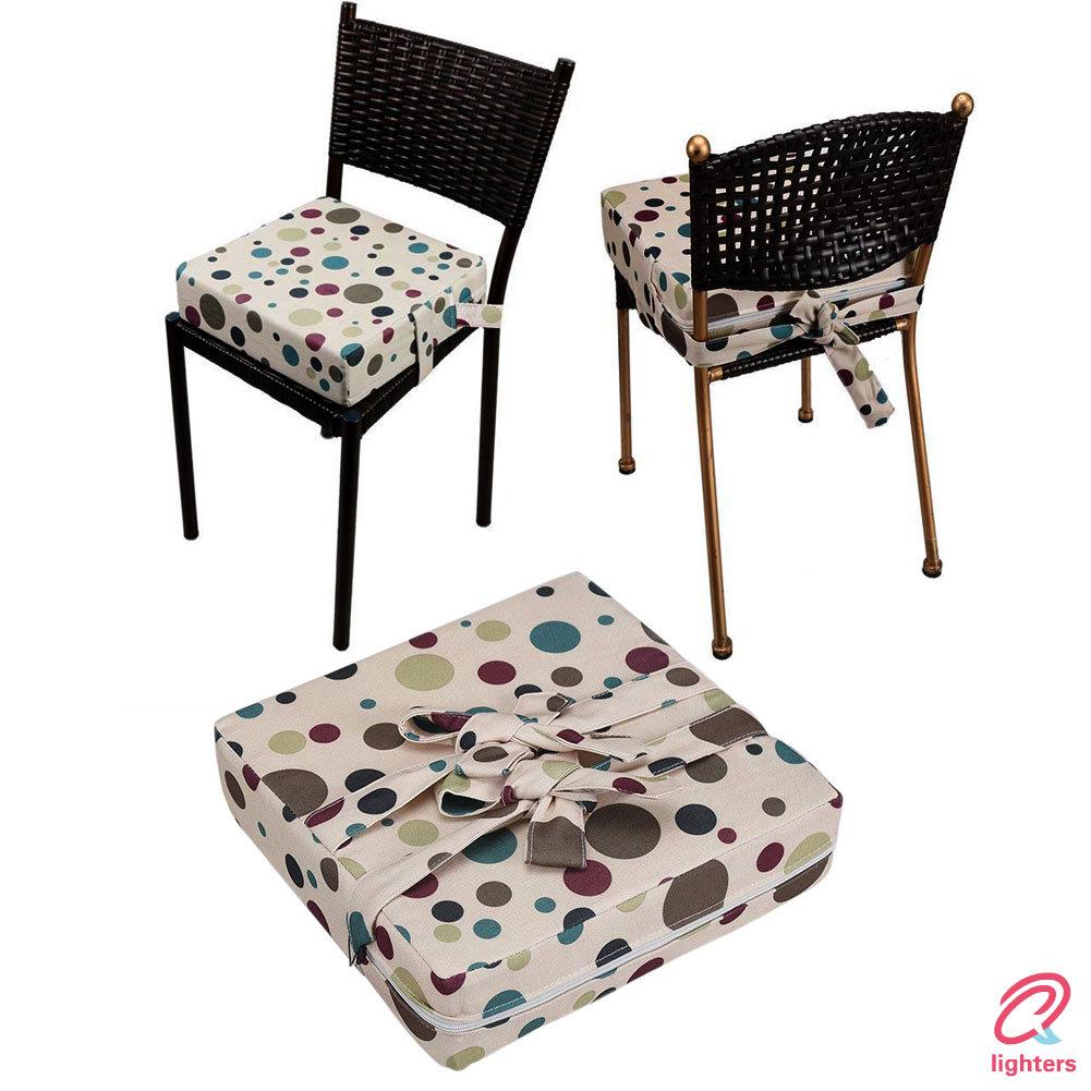 Baby Booster Seat Cushion Toddler Heightening Washable Seat Pads Removable Cover Stars Dining Table Chair With Pockets Baby Products Highchairs Seats Accessories
