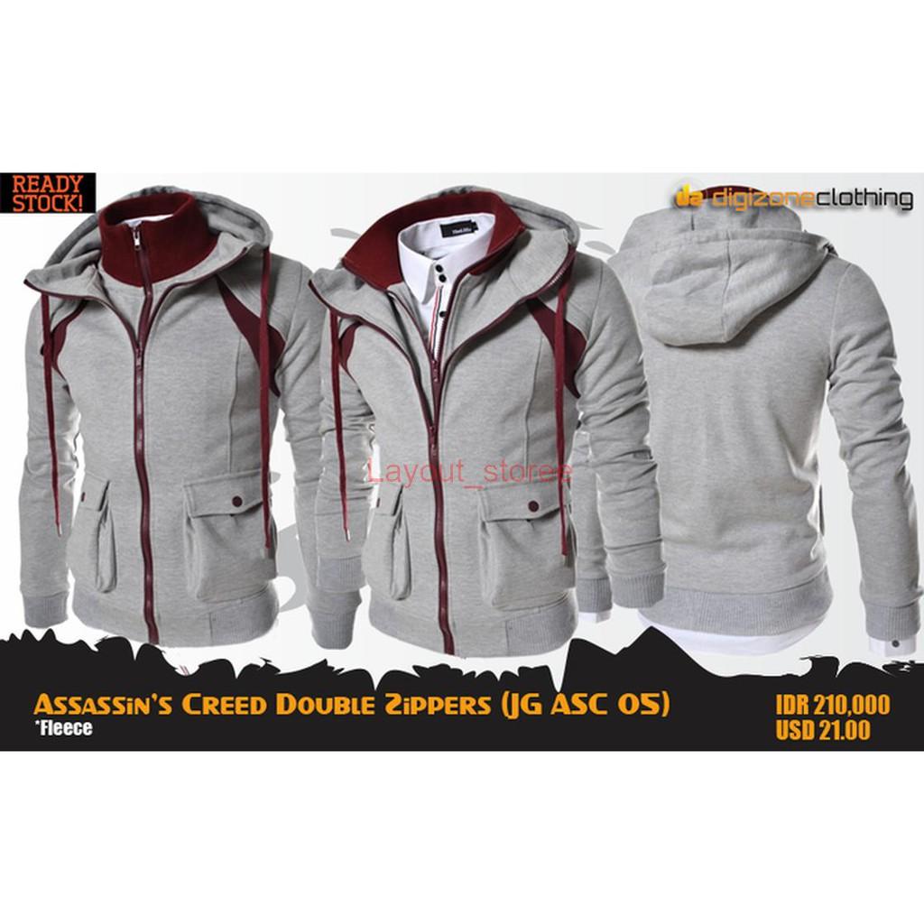 Men Women Assassin's Creed Luminous Jacket Zipper Sweatshirts Thicken Hoodie | Shopee Indonesia