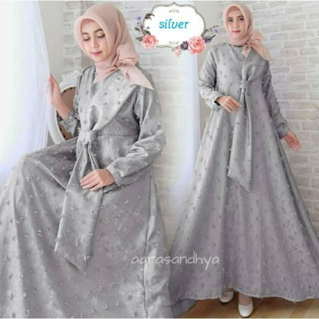 3acd936d GAUN TESSA Tessae JACQUARD GLITTER gamis baju pesta muslimah dress asli  original mewah | Shopee Indonesia