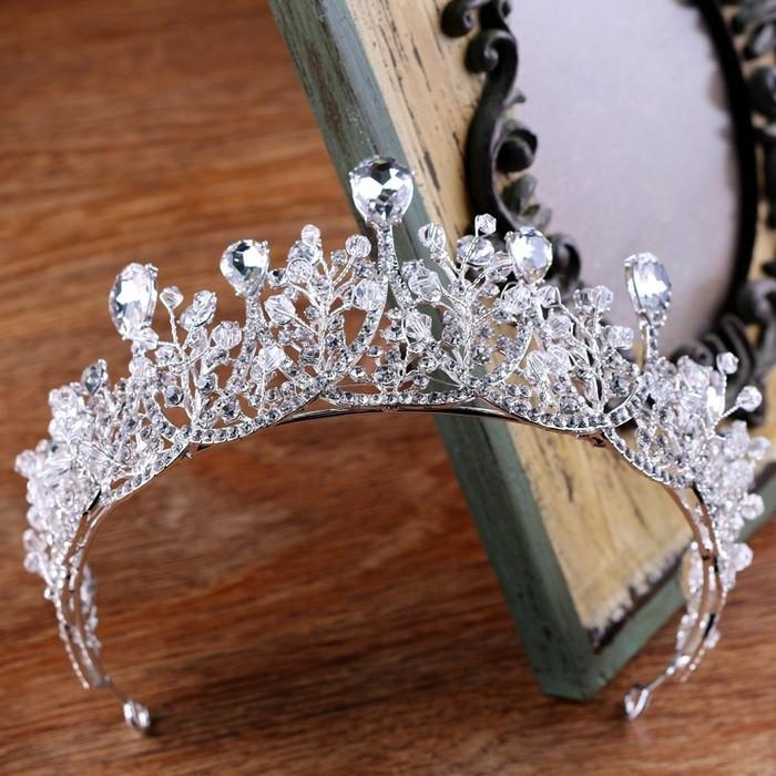 Rambut Pengantin Pernikahan Putri Tiara Jilbab Bando Kristal Mahkota Austria Prom - Beli Harga Murah.