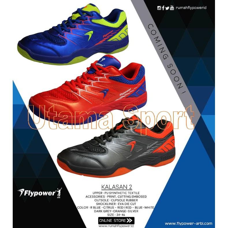 Sepatu Badminton   Bulutangkis Flypower KALASAN 2  ca98a8674a