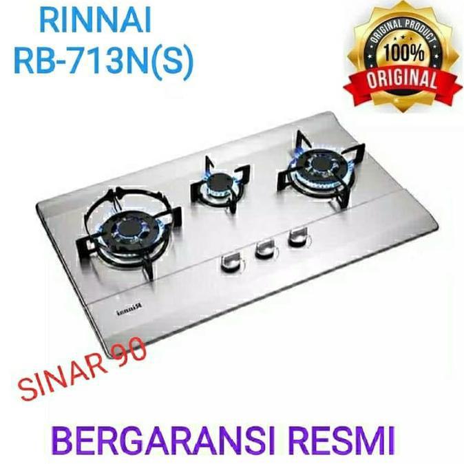 Kompor Gas Rinnai RB-713N(S) Rinnai Kompor Gas Tanam 3 Tungku |Kompor
