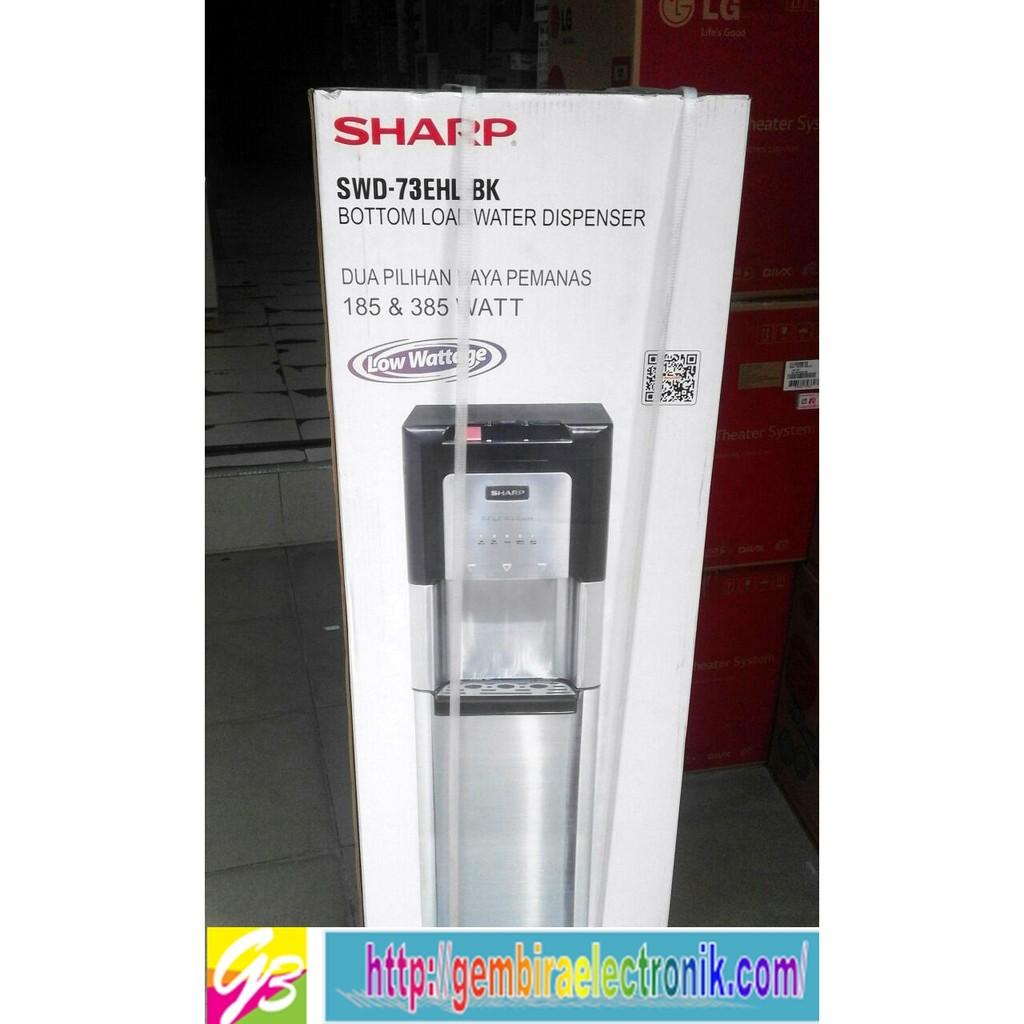 Sharp Water Dispenser Swd 78ehl Sl Silver Free Ongkirjabodetabek T102ed Wh Putih Top Loading
