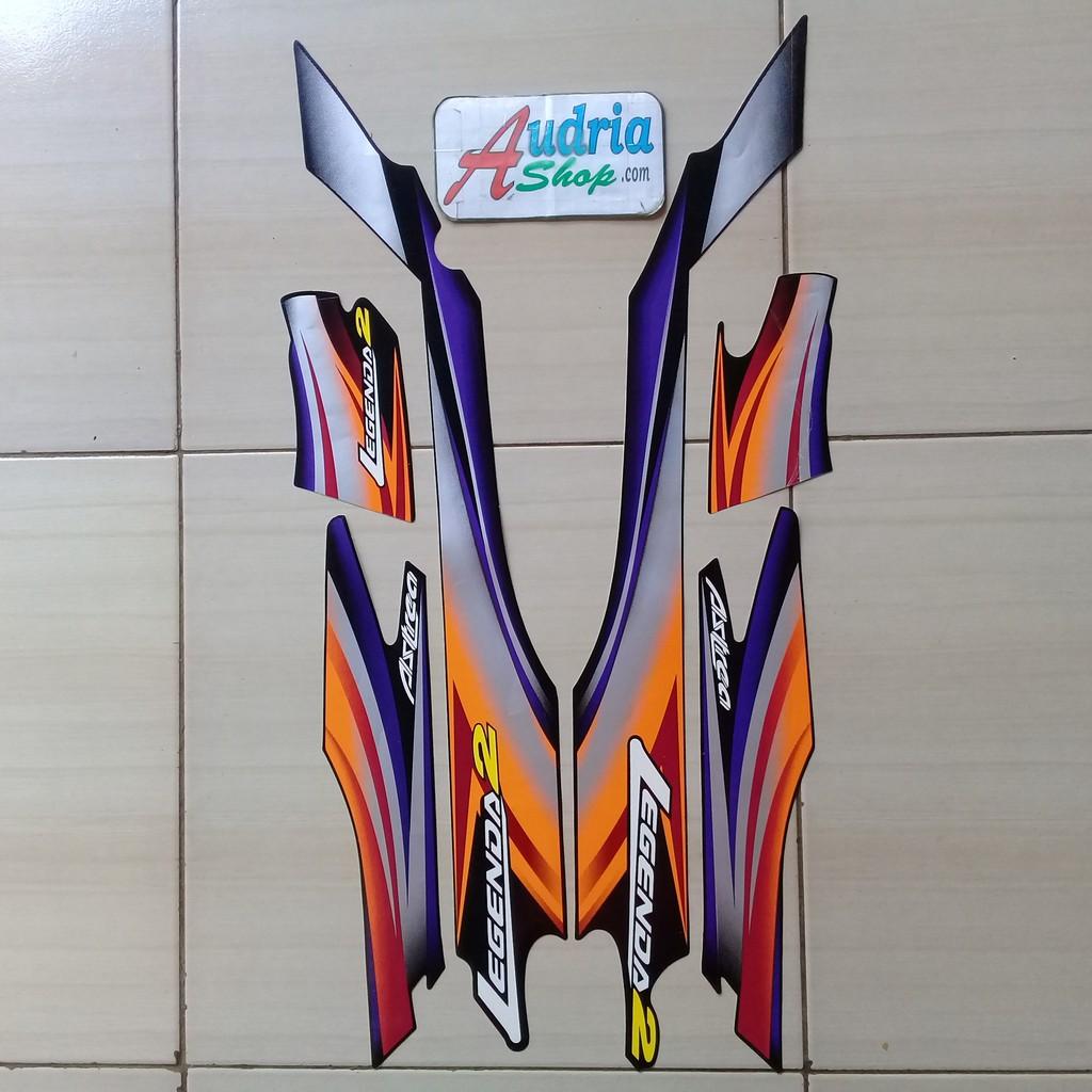 Striping Sticker Motor Honda Astrea Legenda 2002 Full Hitam