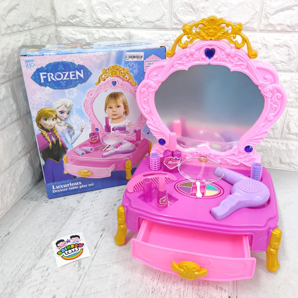 Meja Rias Make Up Mainan Anak Cewek Frozen Dresser Table 1673 Shopee Indonesia