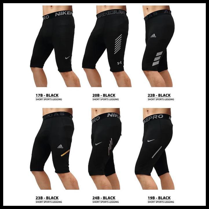 New Stock Premium Celana Legging Sport Pendek Cowok Pria Gym Fitness Olahraga Se Produk Laris Shopee Indonesia
