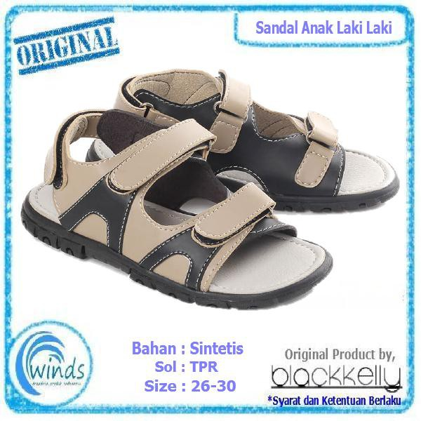 Sandal Sepatu Anak Laki Laki Sendal Sporty Cowok Blackkelly | Shopee Indonesia