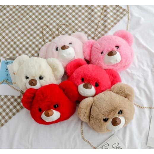 Kbi N0004 Tas Boneka Teddy Bear Tas Selempang Wanita Boneka Lucu Imut Lembut Import Berkualitas Shopee Indonesia