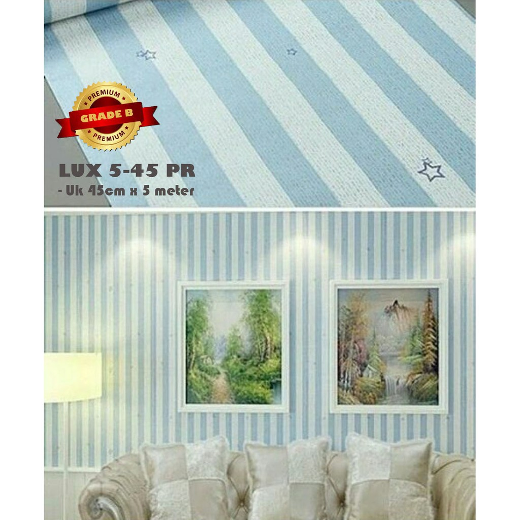 Free Ongkir 30rb Wallpaper Sticker 10 Meter Shabby Mawar Hijau Lux 51 Prb Luxurious Motif Bunga Biru Shopee Indonesia