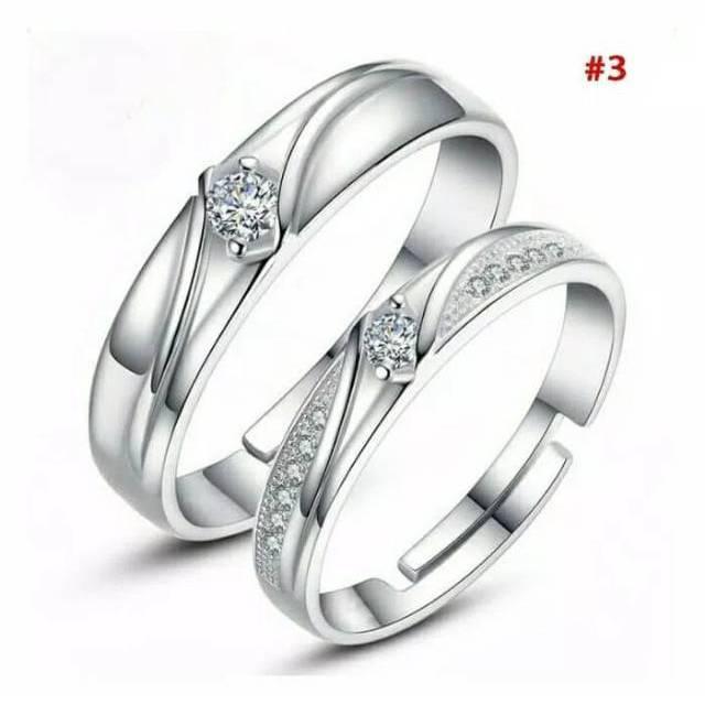 Cincin Couple Perak 925 Pria Wanita Pasangan Tunangan Nikah S925 Silver Shopee Indonesia
