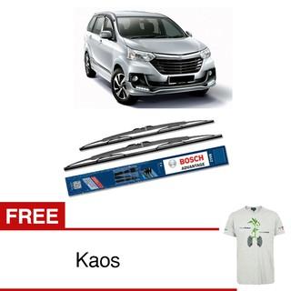 Bosch Sepasang Wiper Kaca Mobil Advantage - 2 Buah/Set + Free Kaos Bosch