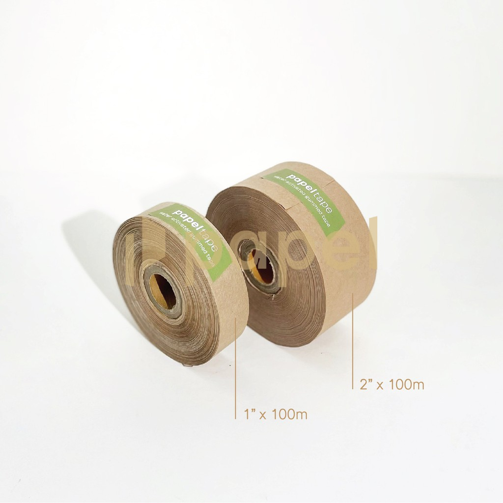 Papel Tape | Lakban Kertas Air | water activated gummed tape