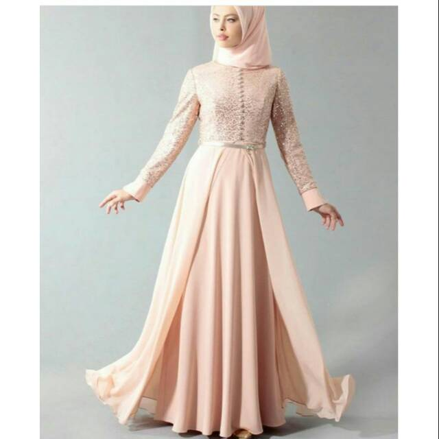 Gaun Muslim Baju Muslimah Gaun Pengantin Muslimah Baju Akad Pengantin Gaun Kebaya Muslim