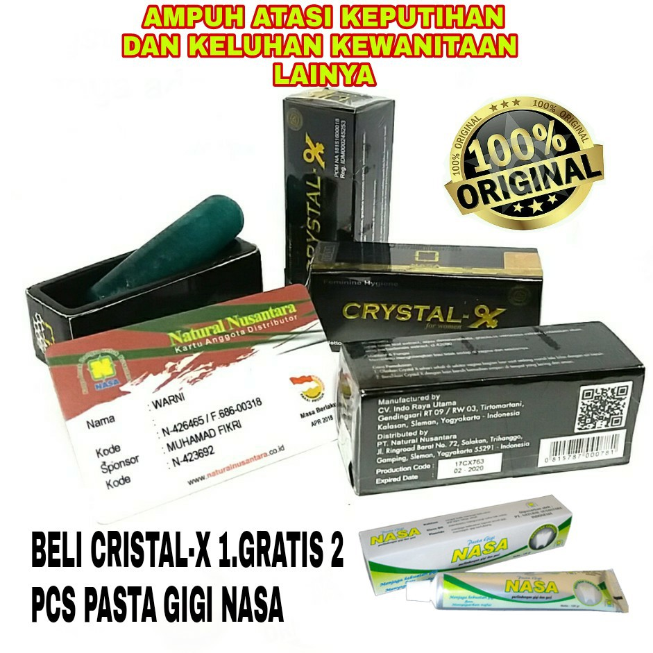 Free Onkircrystal Xcristal Xnasa Ori Shopee Indonesia Crytal Cristal X New Crystal