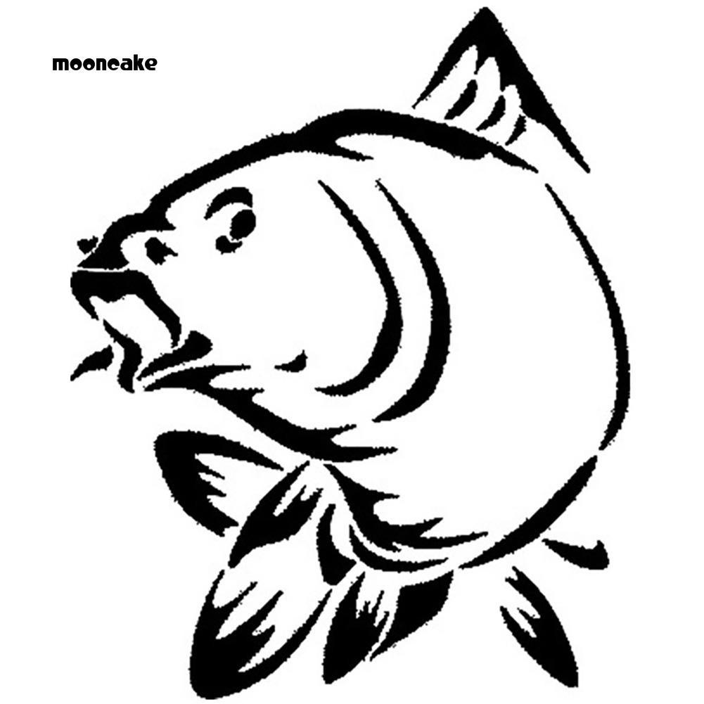 ☼Mooncake☼ Stiker Anti Air Motif Gambar Ikan Kerapu Untuk Mobil Perahu Kayak