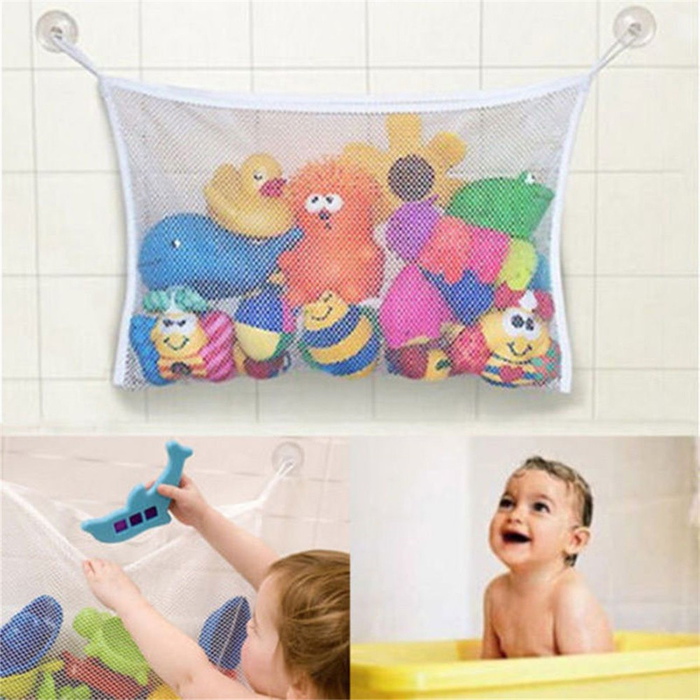 2X Baby Bath Bathtub Toy Mesh Net Storage Bag Organizer Holder Bathroom Storage