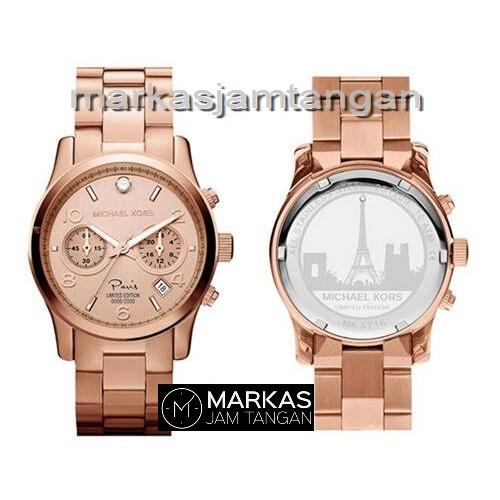 Jam Tangan Wanita Michael Kors Runway Paris Chronograph Stainless Steel ORIGINAL