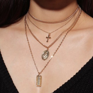 LMYN Womens Necklace Three-Layer Jewelry Star Pendant Necklace Girl Gift
