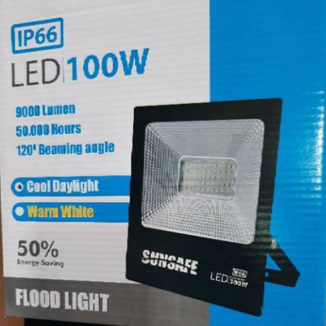 Lampu Tembak 100watt 200watt Lampu Sorot Led Slim 100watt Lampu Taman 100 Watt Shopee Indonesia