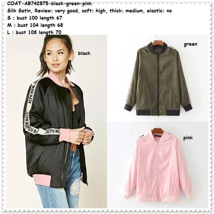 Fashion Outer Jaket Jacket Coat Bomber Cardigan Bunga Baju Wanita Korea  Import Murah Berkualitas  93167c5cea