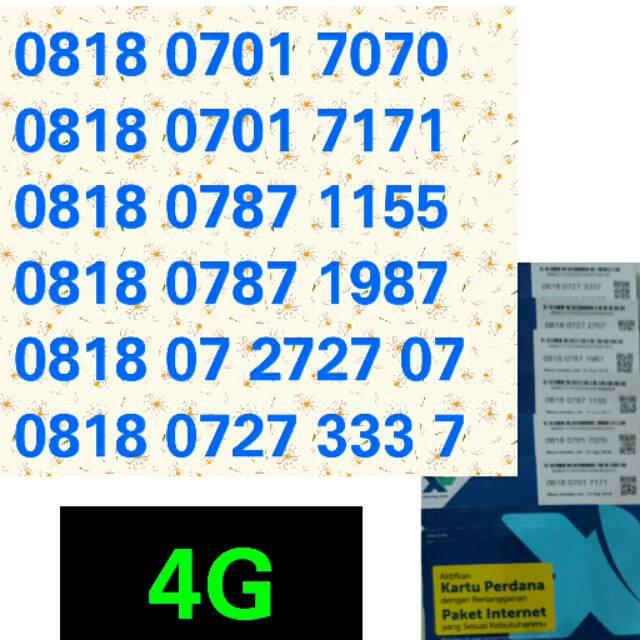 Kartu perdana XL 4G couple pasangan ABAB 789 nomer cantik XL 4G   Shopee Indonesia