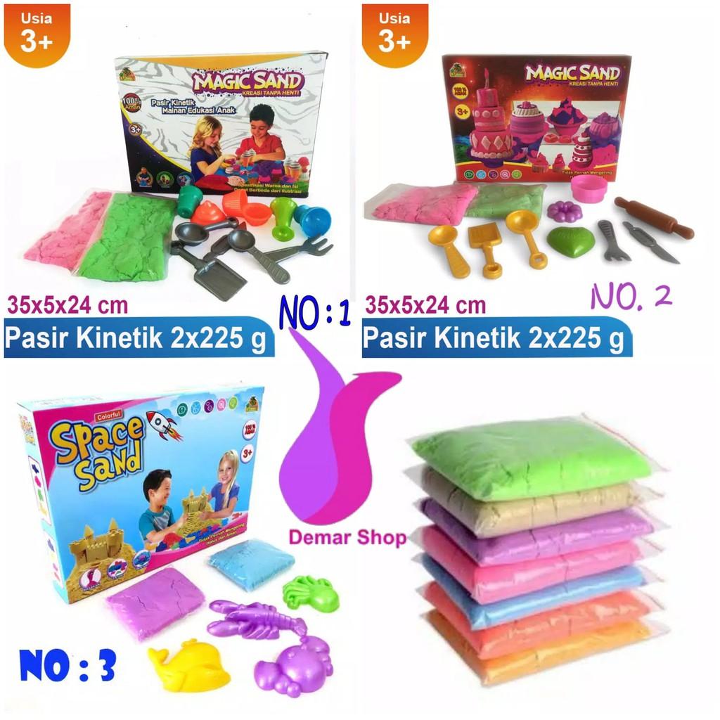 Pasir Kinetik Ajaib Kemasan Ember 500g Mainan Pasir Ajaib Mainan Edukasi  Anak  b00e01cb98