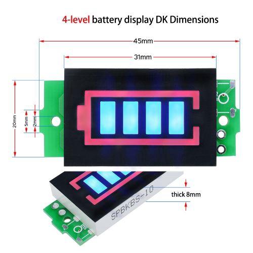 1S//2S//3S//4S 4.2//8.4//12.6//16.8V Lithium Battery Capacity Indicator Power Tester