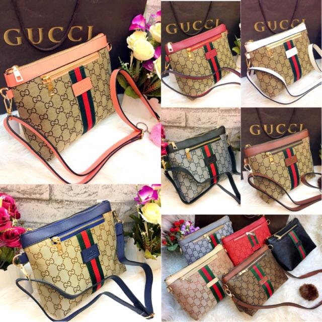 Tas Gucci Sling Bag Elena Selempang (4PCS BISA 1 KG)  7a709d9997