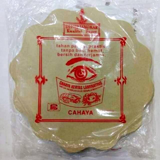 Kertas Nasi Bunga Cap Mata Isi 180 Atau 200 Kertas Minyak Bungkus Alas Piring Rotan Bulat Cahaya Shopee Indonesia
