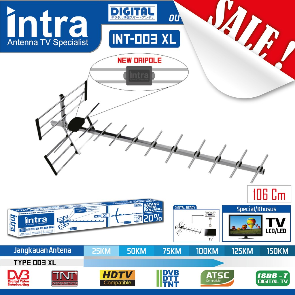 Antena Tv Intra Hm 002 Shopee Indonesia Sanex Sn722 Indoor Bisa Utk Semua