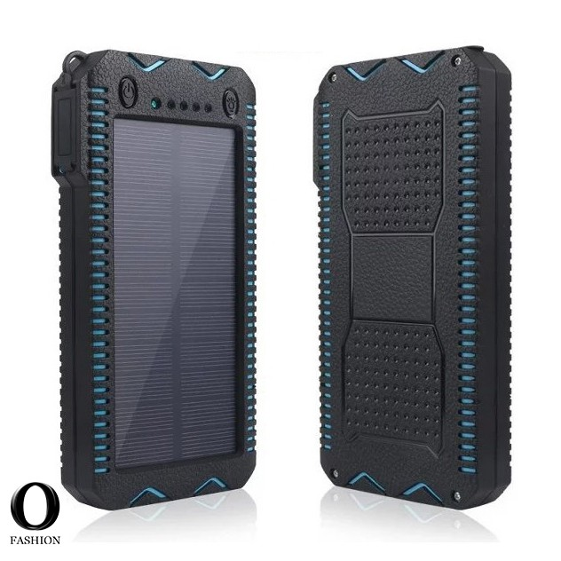 Solar Power Bank Battery Charger Portable Durable Waterproof 20000mAh Compass Powerbank