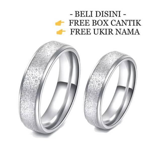 Promo Perhiasan CINCIN ALOY CHROME DAN TITANIUM SUPER REQUEST PASANG RING CINCIN Murah | Shopee Indonesia