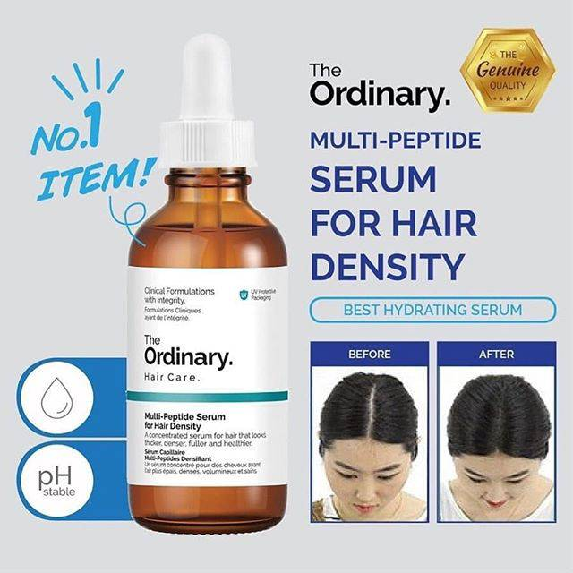 The Ordinary Hair Care Multi Peptide Serum For Hair Density 60ml Shopee Indonesia