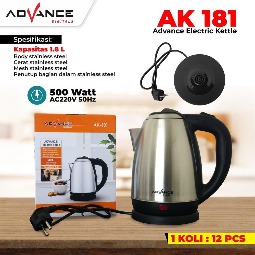 Kettle Elektrik Advance Ak 181 Teko Listrik Advance Shopee Indonesia Harga teko listrik stainless