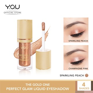 YOU The Gold One  Perfect Glam Liquid Eyeshadow [ Shimmer dan Glitter Pigmentasi Tinggi]