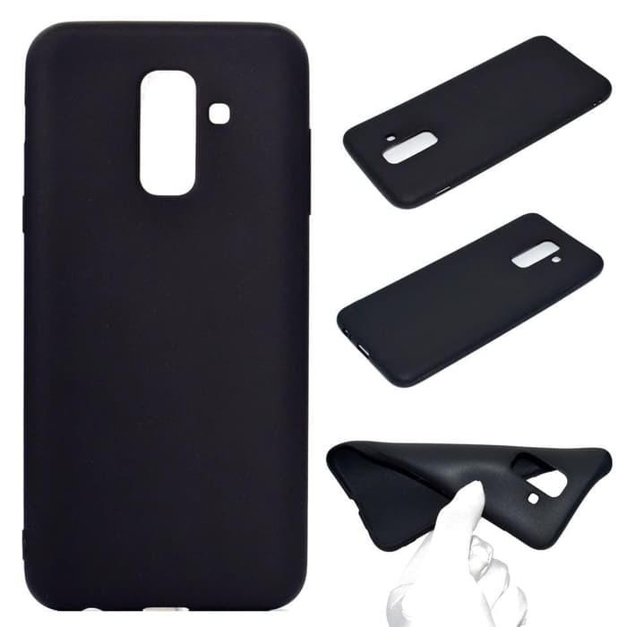 Jual Case Black Slim Matte Samsung A6+ 2018 Case Glare Sofcase Back Casing Murah | Shopee