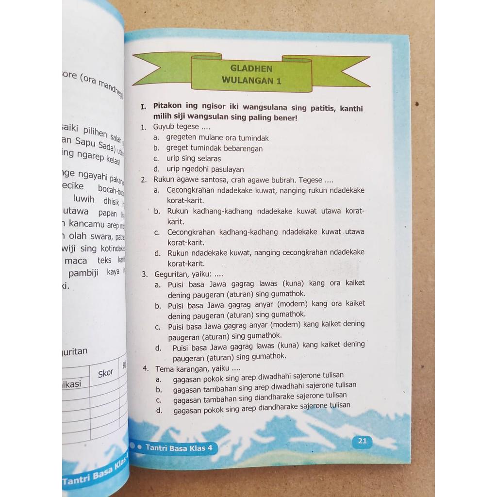 Buku Tantri Basa Jawa Kelas 4 Sd Mi Bahasa Jawa Shopee Indonesia